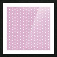 Lavender Heart Shape Pattern Picture Frame print