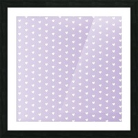 Spring Purple Heart Shape Pattern Picture Frame print