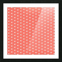 Peach Heart Shape Pattern Picture Frame print