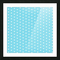 Sky Blue Heart Shape Pattern Picture Frame print