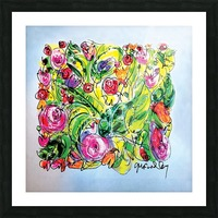 Floral Color Expression Picture Frame print