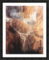 The Devils Bridge St. Gotthard by Joseph Mallord Turner Picture Frame print