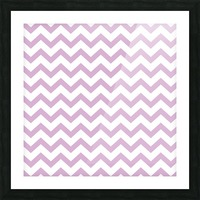 ORCHID CHEVRON Picture Frame print