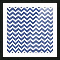 ROYAL BLUE CHEVRON Picture Frame print