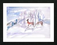 Roe Deers Picture Frame print