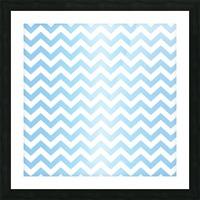 BLUE  PASTEL CHEVRON Picture Frame print