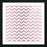 PINKY SHADE CHEVRON Picture Frame print