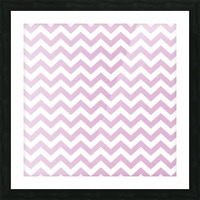 SPRING PINK CHEVRON Picture Frame print