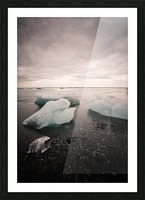Drift ice Picture Frame print