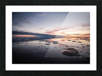 Ice flow Picture Frame print