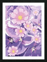 Abstract Flowers  Picture Frame print