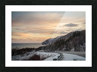 Winter Sunrise Picture Frame print
