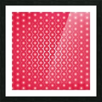Red Pearl Pattern Picture Frame print