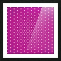 Magenta Pearl Pattern Picture Frame print