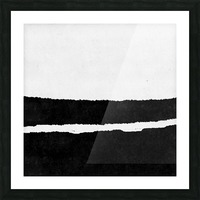 Black White Minimal Abstract Painting Nr.102 Picture Frame print
