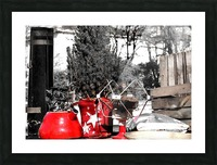 Red Kettle Picture Frame print