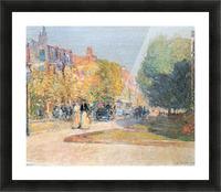 Malborough Street, Boston by Hassam Picture Frame print
