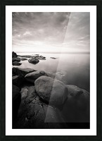 Moment of zen Picture Frame print