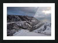 Snowy Skyline Picture Frame print