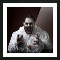Scary Evil Clown Picture Frame print