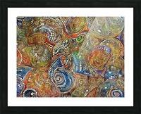 Mosaic Seashells Picture Frame print