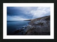 Deep Blue Picture Frame print
