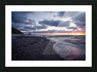 Washed by the sea Picture Frame print