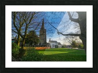 Church house Picture Frame print