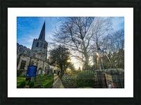 Churchyard Picture Frame print