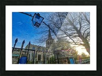 Church lamp Picture Frame print
