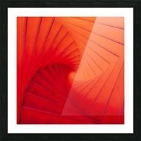 Composition Vermillon Picture Frame print