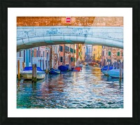 Afternoon Light in Venice Canal Picture Frame print