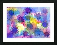 Watercolor blots Picture Frame print
