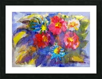 Vivid flowers in the garden  Picture Frame print