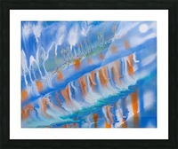 THE WAVES Picture Frame print