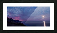 Clarity of the moon Picture Frame print