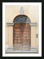 Old Wooden Door Tavernelle Picture Frame print