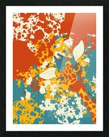 Cute Giraffe Abstract Picture Frame print