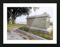 Pilgrim sarcophagus on Coles Hill Picture Frame print
