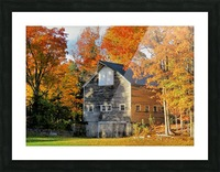 Barn in Autumn Picture Frame print
