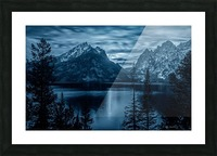 Moon over Jenny Lake Picture Frame print
