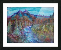 Maroon Bells and Maroon Creek Snowmass Wilderness Area Picture Frame print