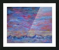 Longs Peak Winter Horizon with Waterfowl Picture Frame print