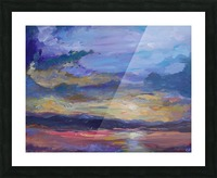 Colorado sunset over lake Picture Frame print