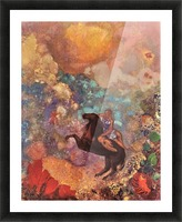 The MUSE on Pegasu by Odilon Redon Picture Frame print