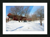 West Montrose Covered Bridge No Trucks No Buses Picture Frame print