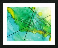Green under the Lines Picture Frame print