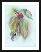 Squirrel in the Autumn Dogwood Picture Frame print