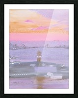 Sunrise Over New York and New Jersey Picture Frame print