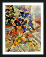 Abstract Painting with Geometric Figures Picture Frame print